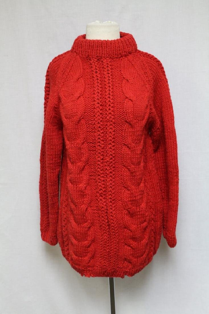 Vintage 1980s Red Wool Sweater