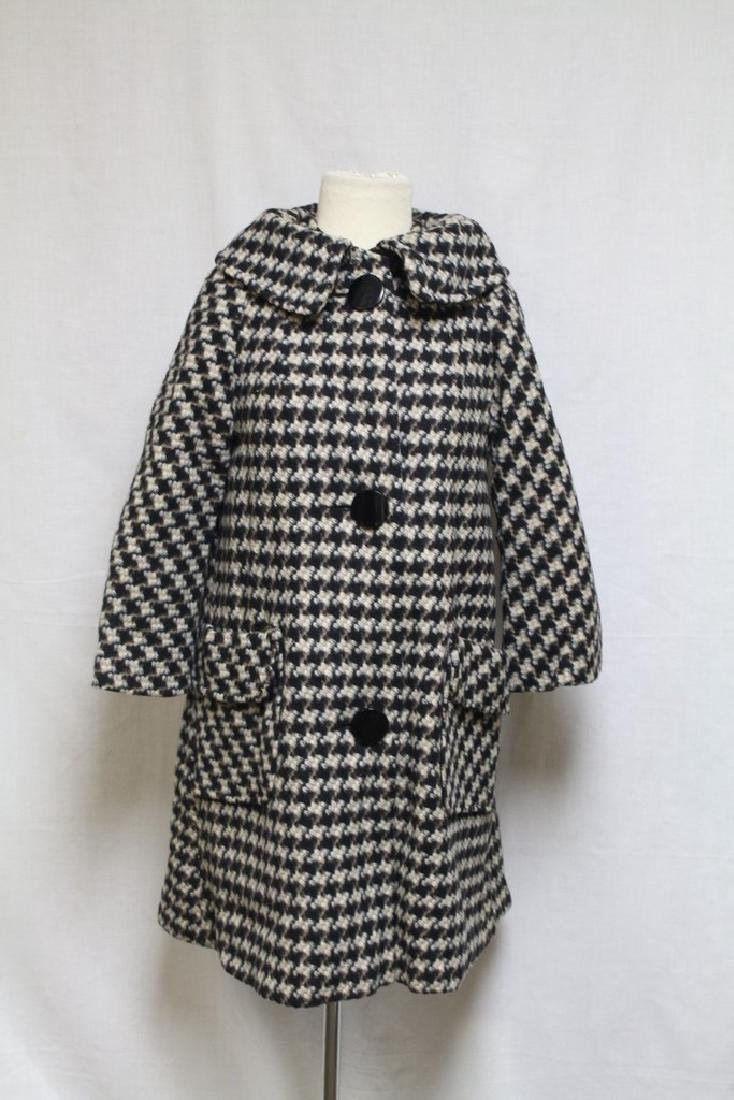 Vintage 1960's Tweed Swing Coat