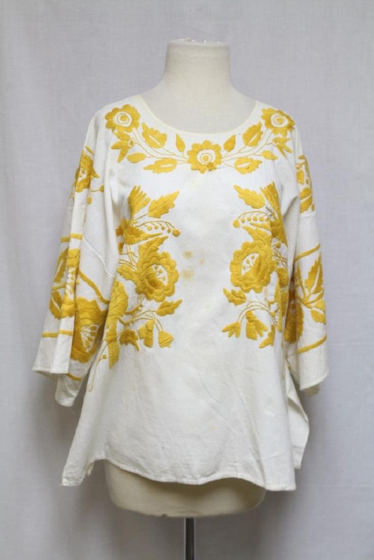 Vintage 1960s Embroidered Cotton Tunic