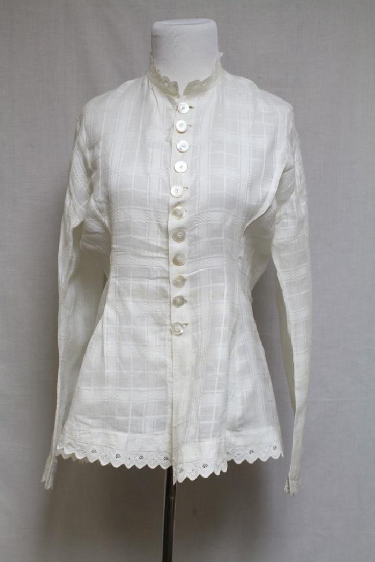 Vintage 1800s Victorian Womens White Blouse
