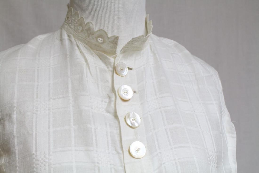 Vintage 1800s Victorian Womens White Blouse - 2