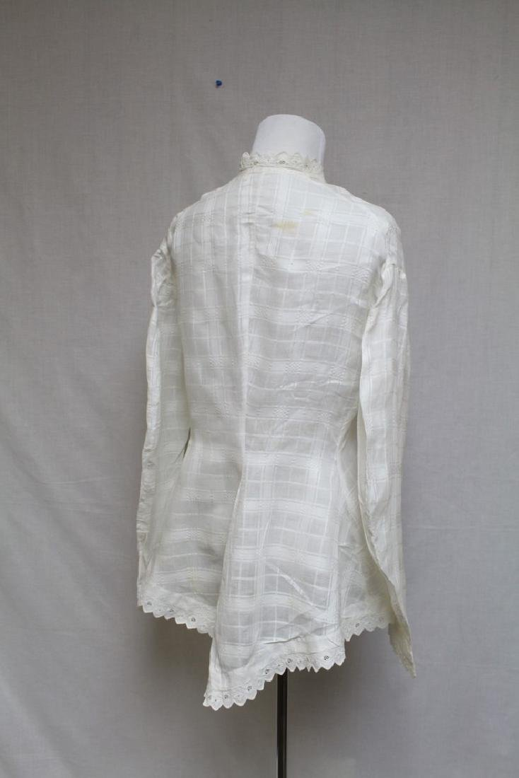 Vintage 1800s Victorian Womens White Blouse - 3