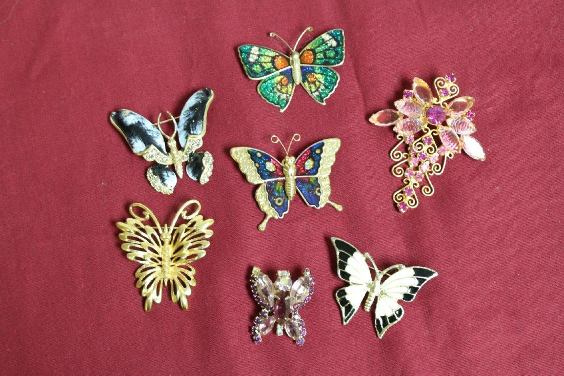 Lot of 7 Vintage Brooches, one Monet