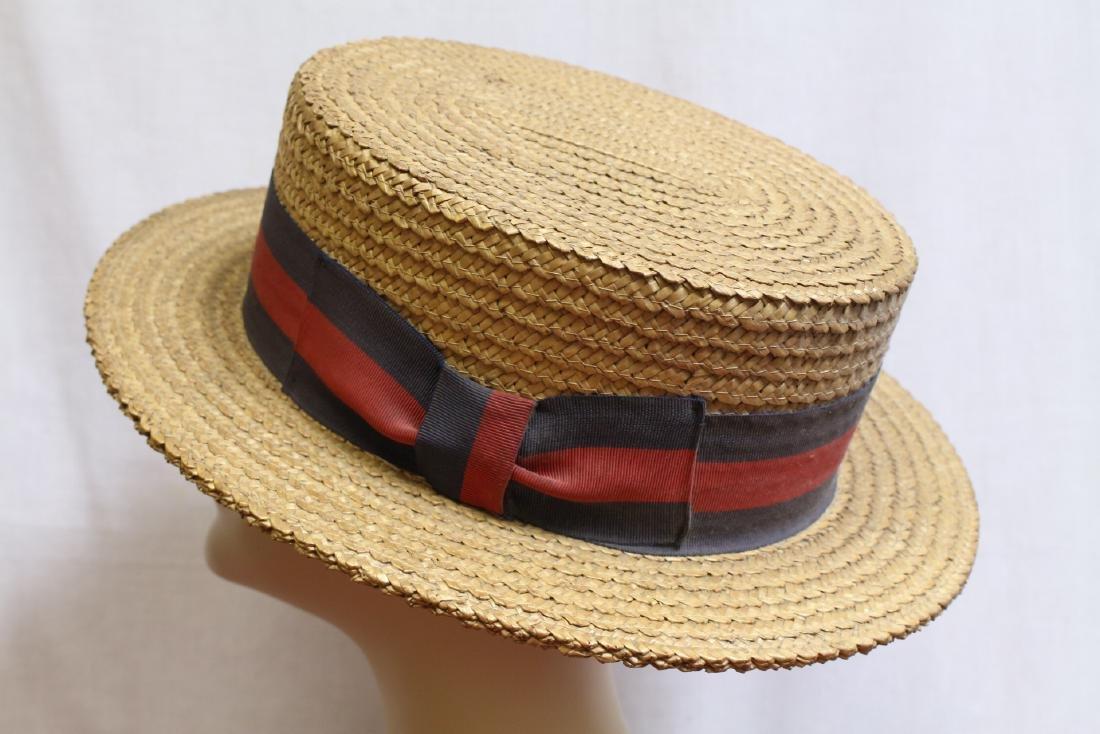 Men's Vintage Ponte Rialto Venice Straw Boater Hat