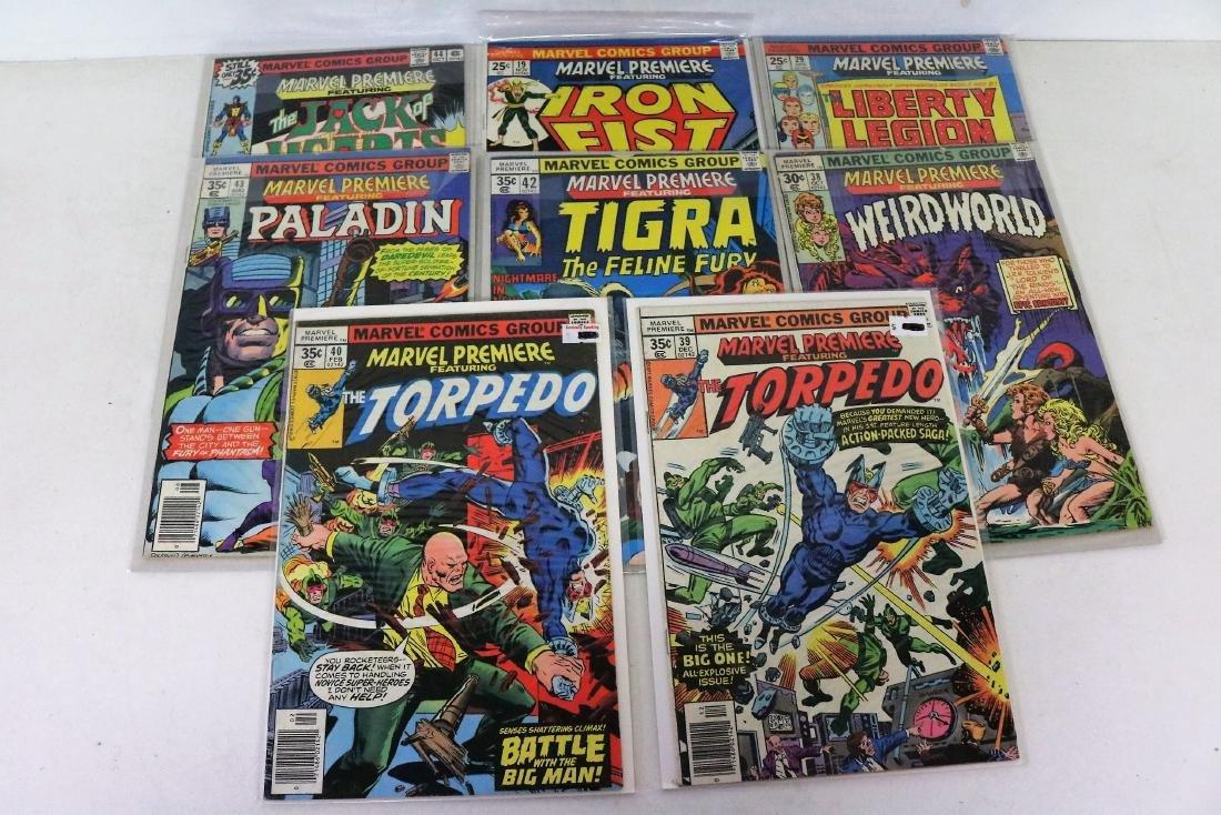 Great marvel Premiere lot of 7 Comics, #19 Iron Fist