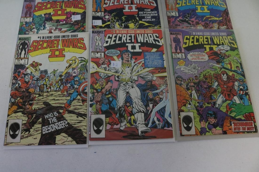 Secret Wars II, full set, #1-9 - 3