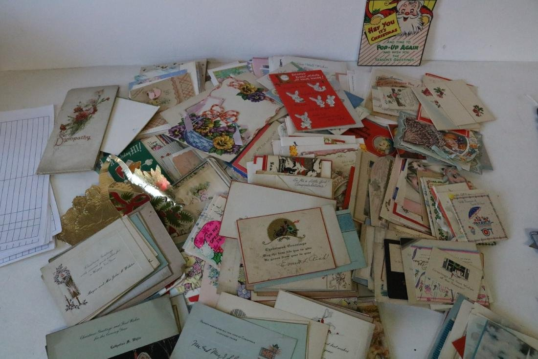 Huge Lot of Vintage Greeting Cards