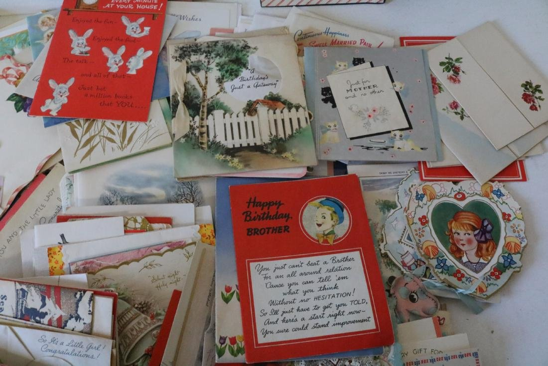 Huge Lot of Vintage Greeting Cards - 3
