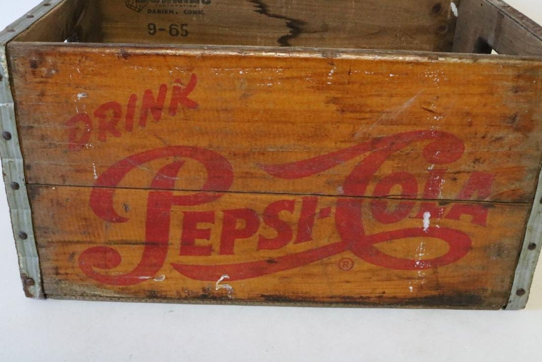 1965 Pepsi Cola Wood Crate