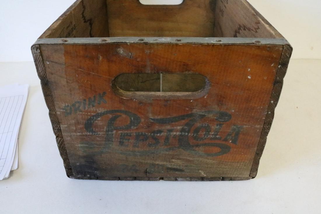1965 Pepsi Cola Wood Crate - 5