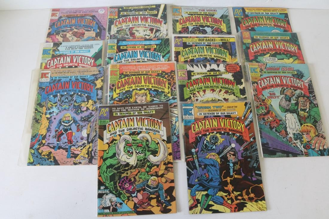 Lot of 14 comics #1-13 Captain Victory