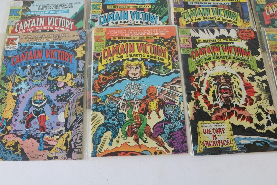 Lot of 14 comics #1-13 Captain Victory - 3