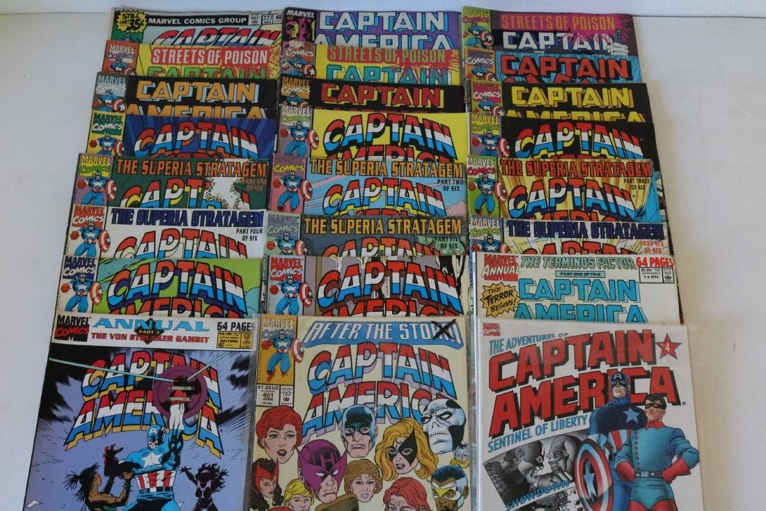 Lot of 24 Captain America comics