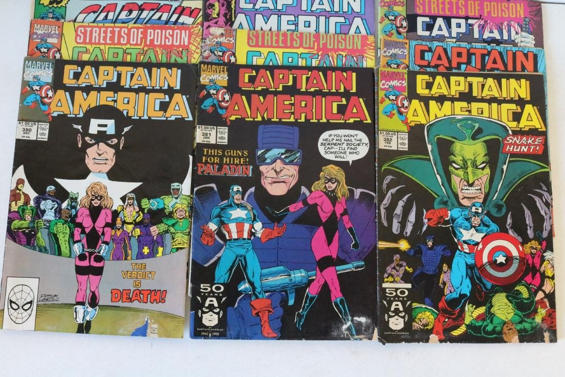 Lot of 24 Captain America comics - 7