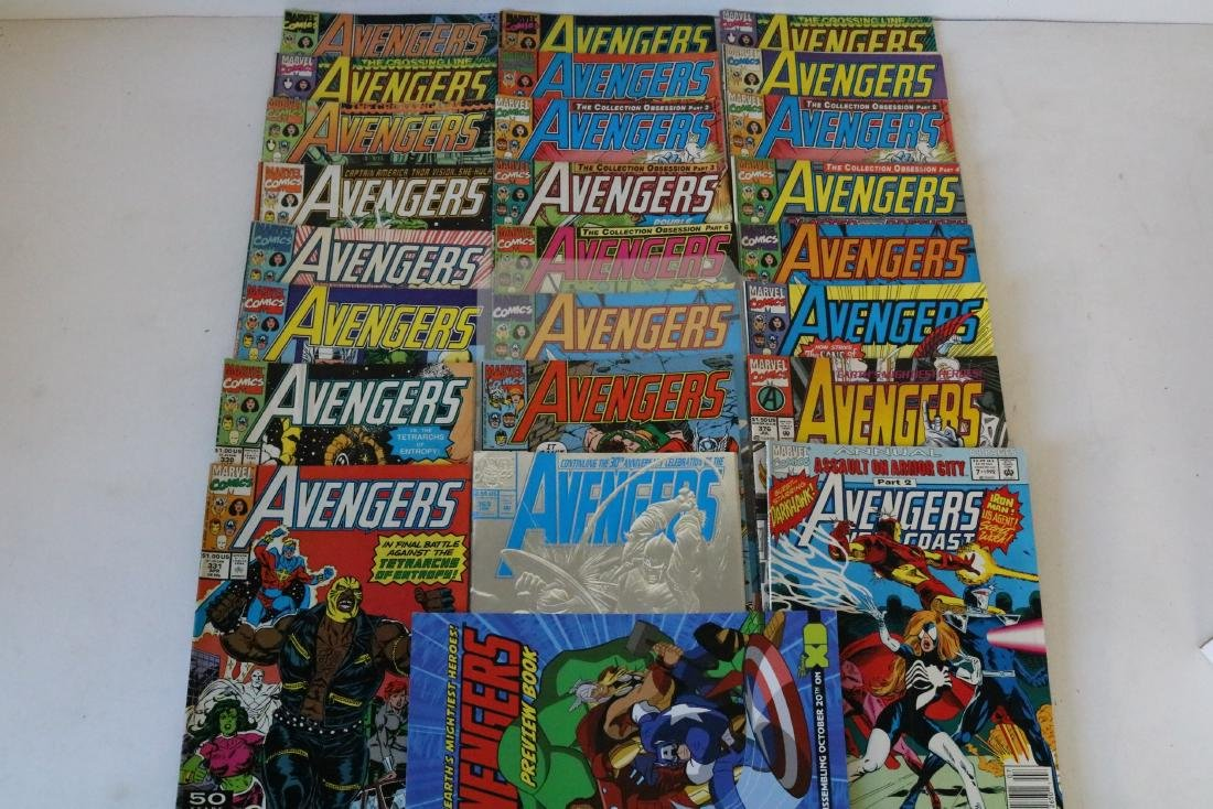 Avengers lot of 25 Marvel comics