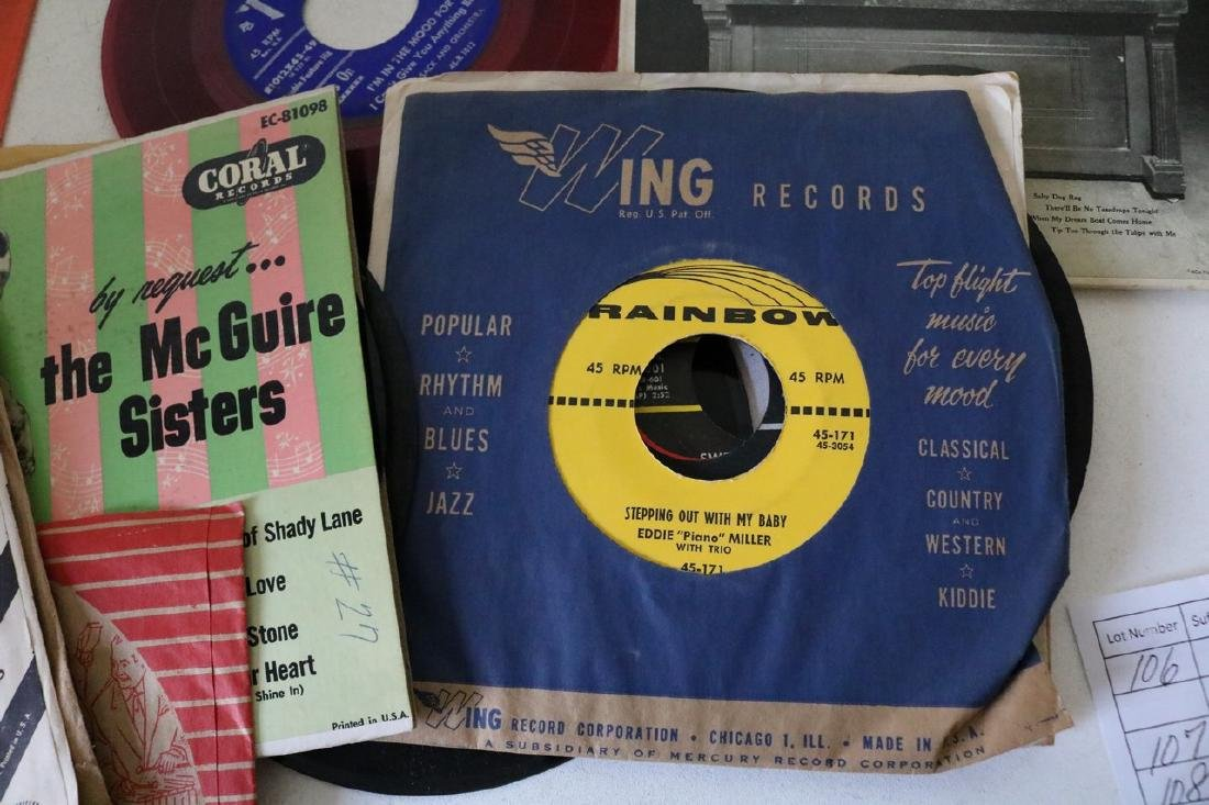 Lot of 45 Records - 9