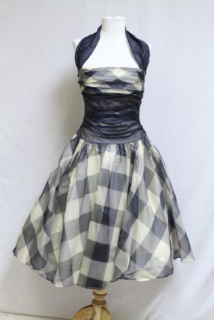 Vintage 1950s Gingham Halter Dress