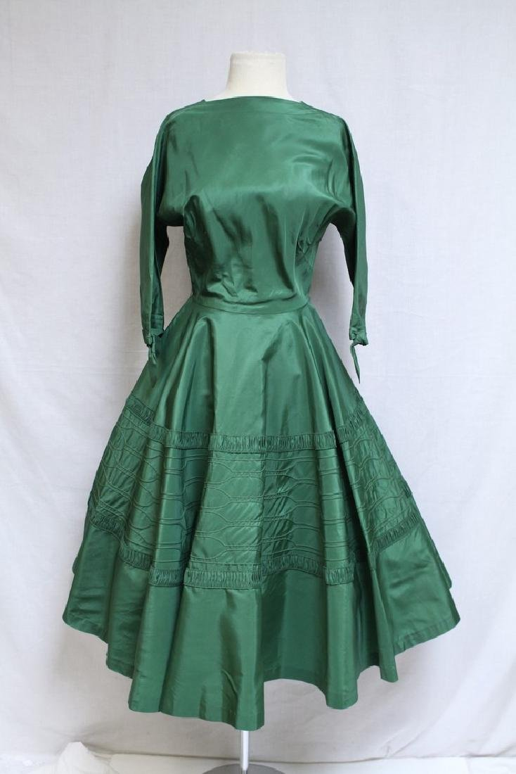 Vintage 1950's R&K Green Dress
