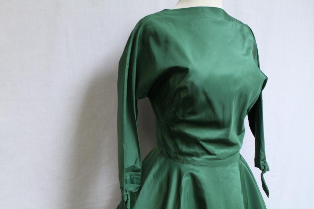 Vintage 1950's R&K Green Dress - 2