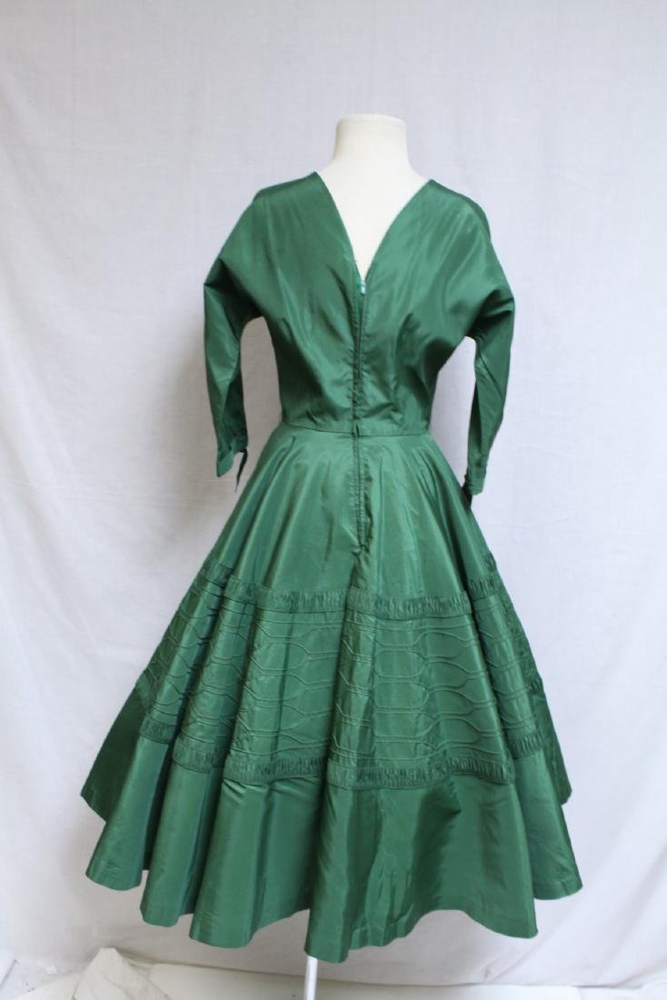 Vintage 1950's R&K Green Dress - 3