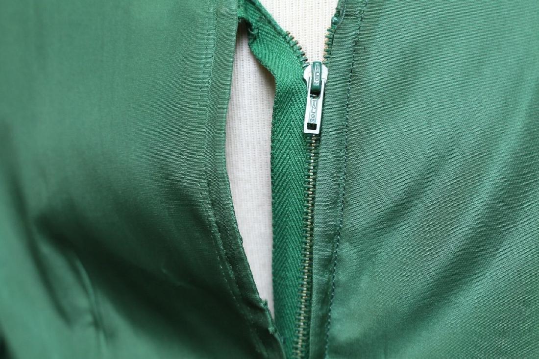Vintage 1950's R&K Green Dress - 4