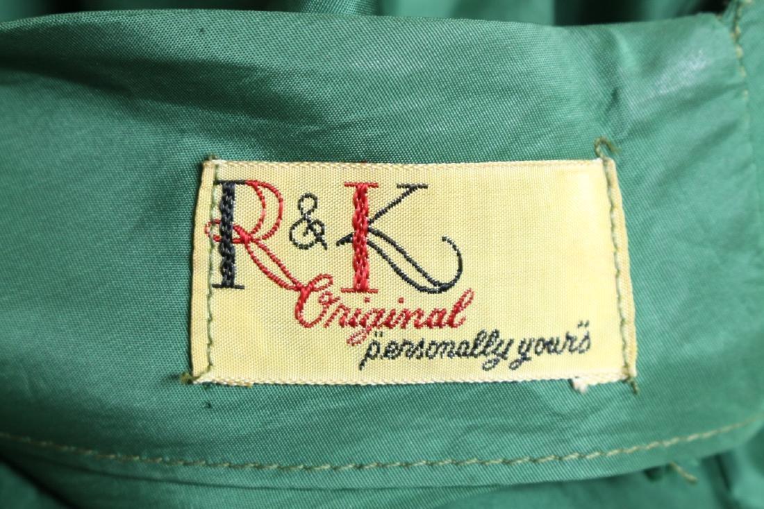 Vintage 1950's R&K Green Dress - 6