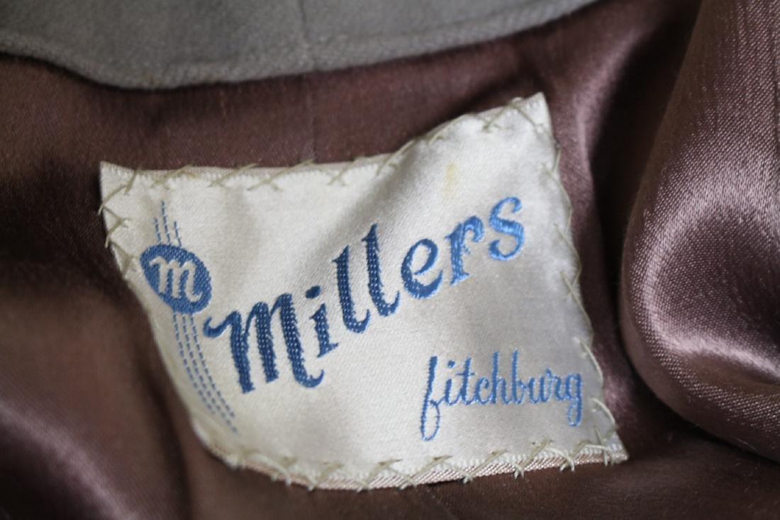 Vintage 1940s Beige Cashmere & Fur Skirt Suit - 4