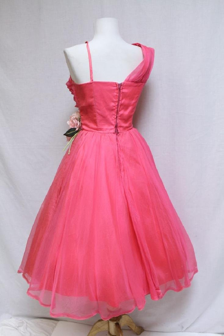 Vintage 1960s Hot Pink Party Dress - 3