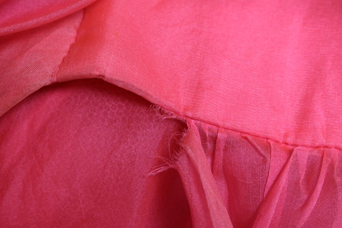 Vintage 1960s Hot Pink Party Dress - 5