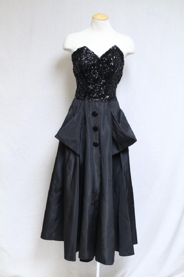 Vintage 1940s Jack Herzog Strapless Gown