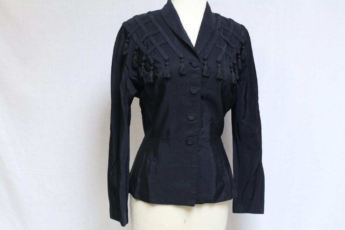 Vintage 1940s Black Tassel Jacket