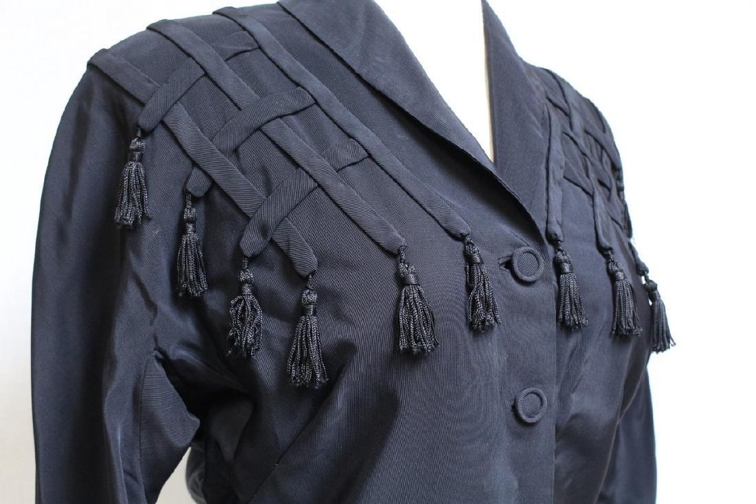 Vintage 1940s Black Tassel Jacket - 2