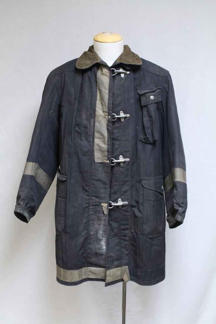 Vintage 1990s Black Fireman's Coat