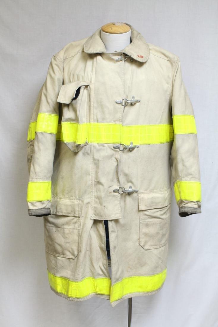 Vintage 1990s White Fireman's Coat