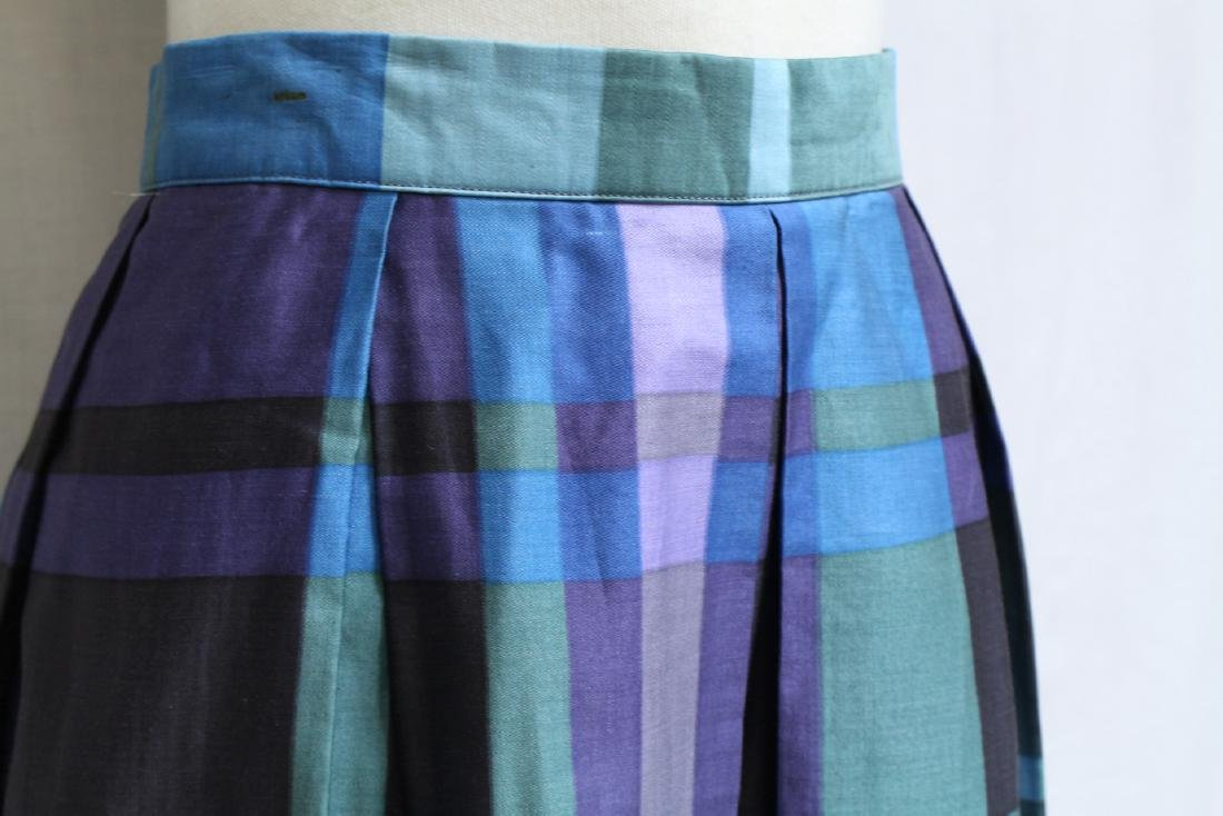 Vintage 1970s Bill Atkinson Plaid Skirt - 2