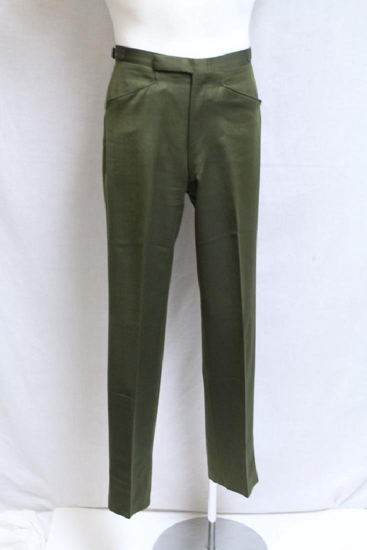 Vintage 1960's Men's Green Trousers