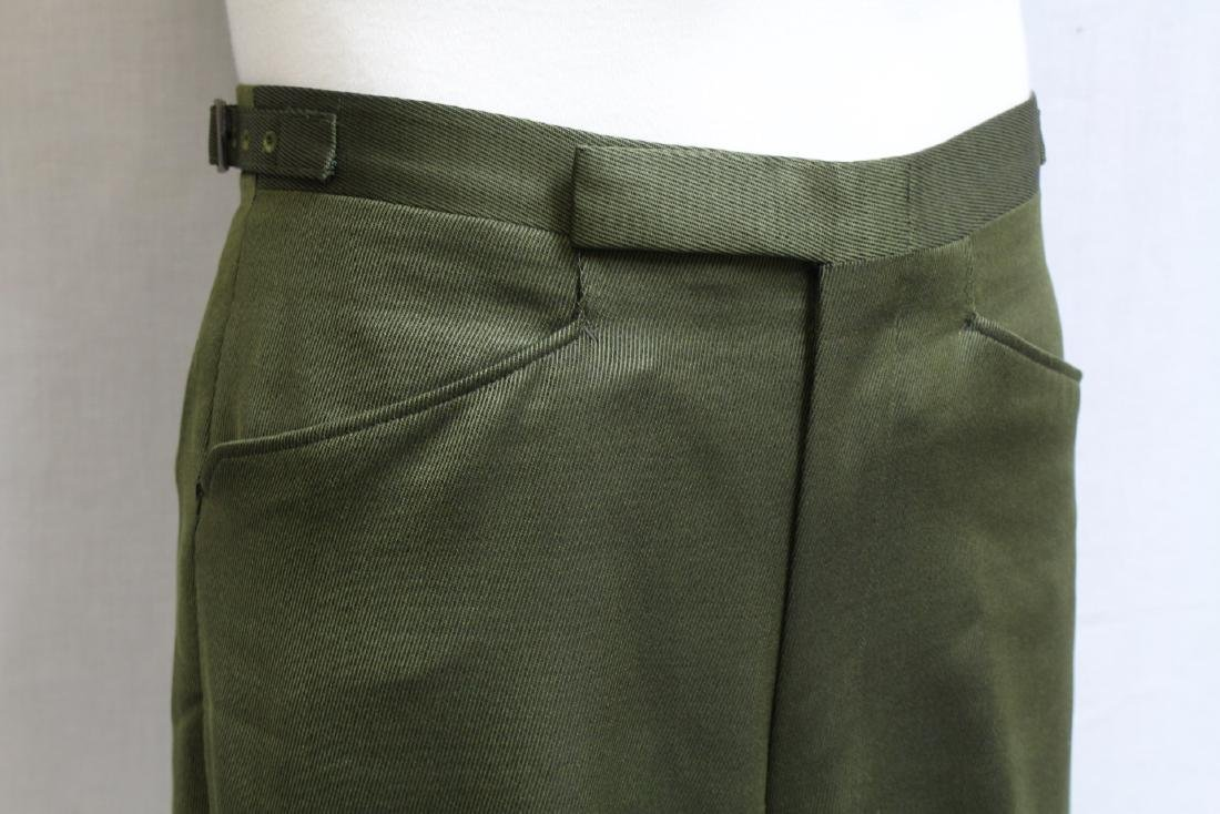 Vintage 1960's Men's Green Trousers - 2