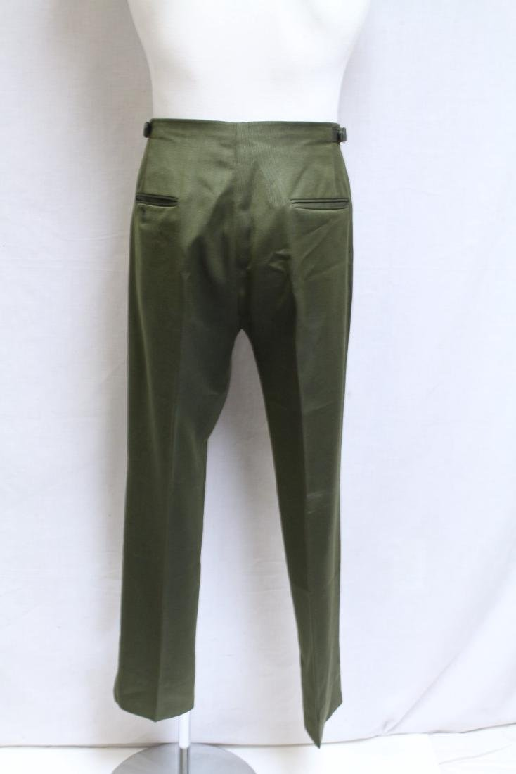 Vintage 1960's Men's Green Trousers - 3