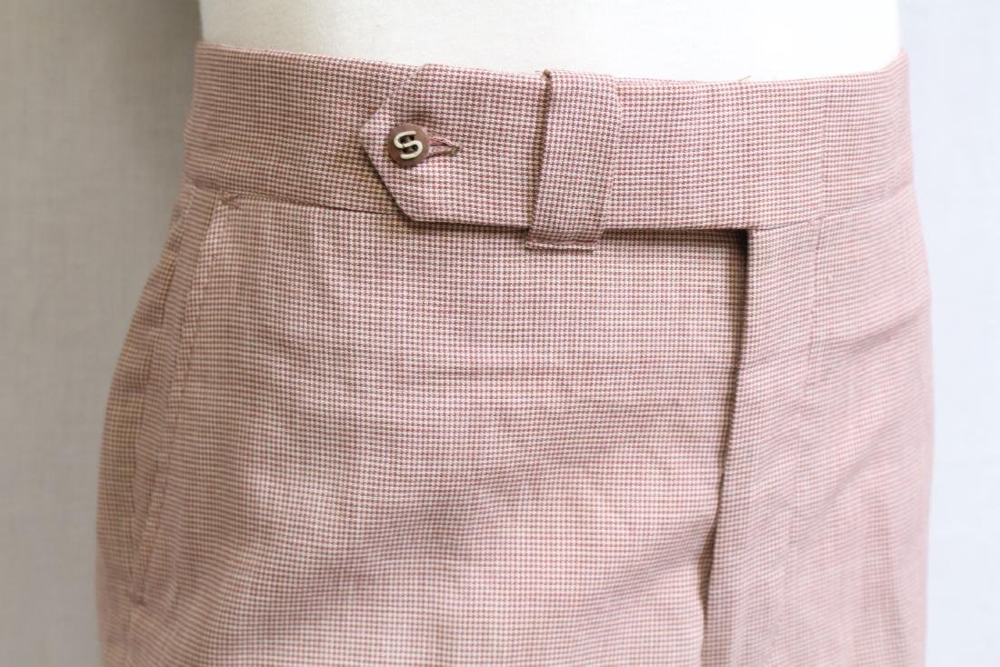 Vintage 1960s Red Houndstooth Trousers - 2