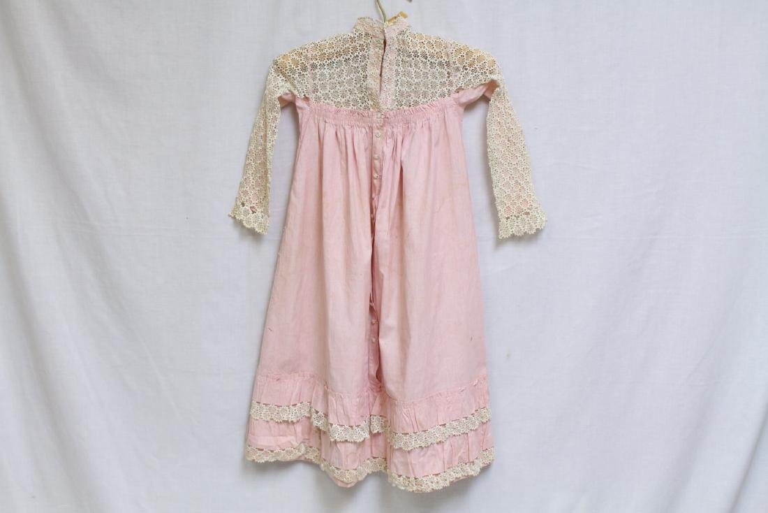 Antique Lace & Cotton Childs Dress