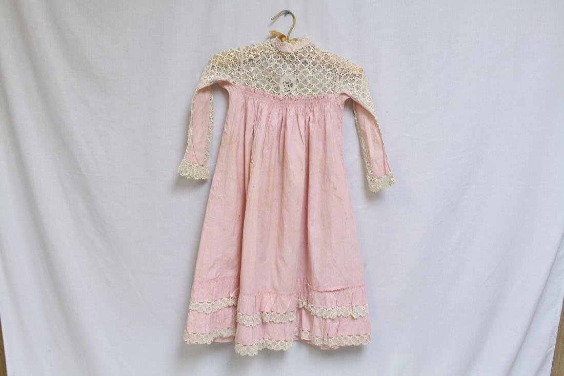Antique Lace & Cotton Childs Dress - 2