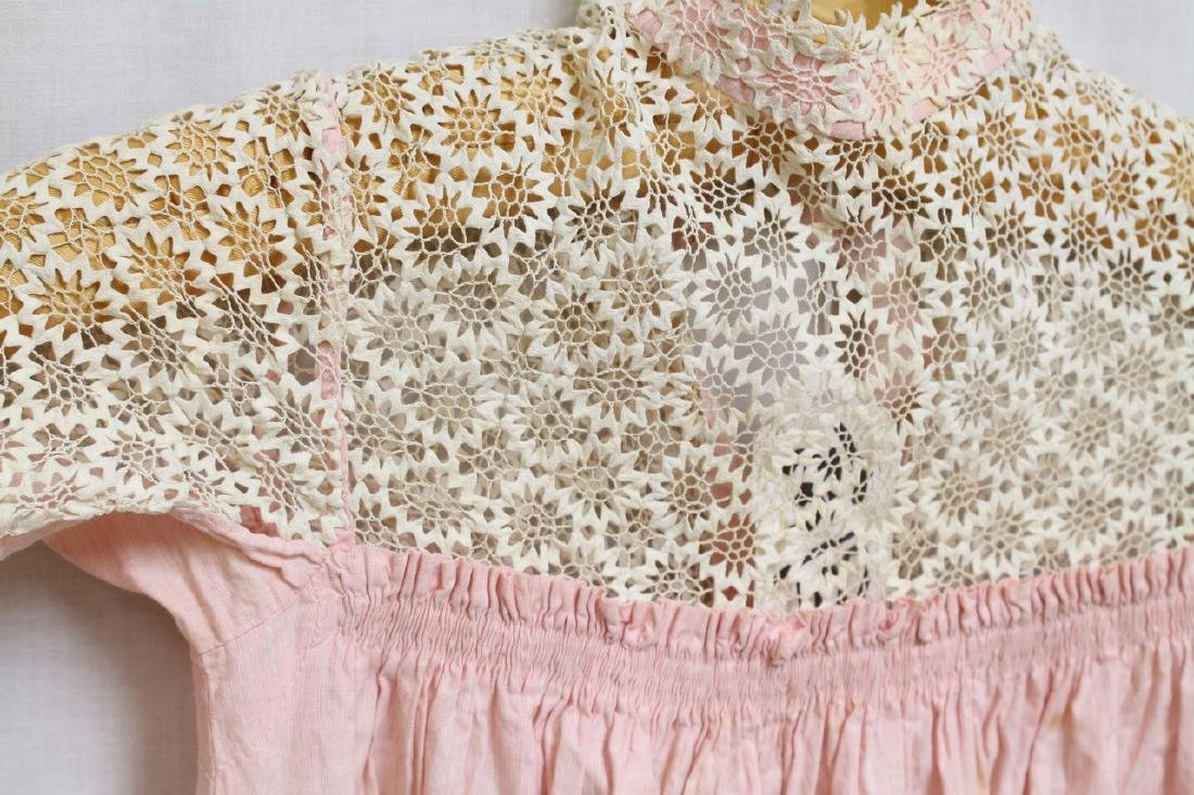 Antique Lace & Cotton Childs Dress - 3