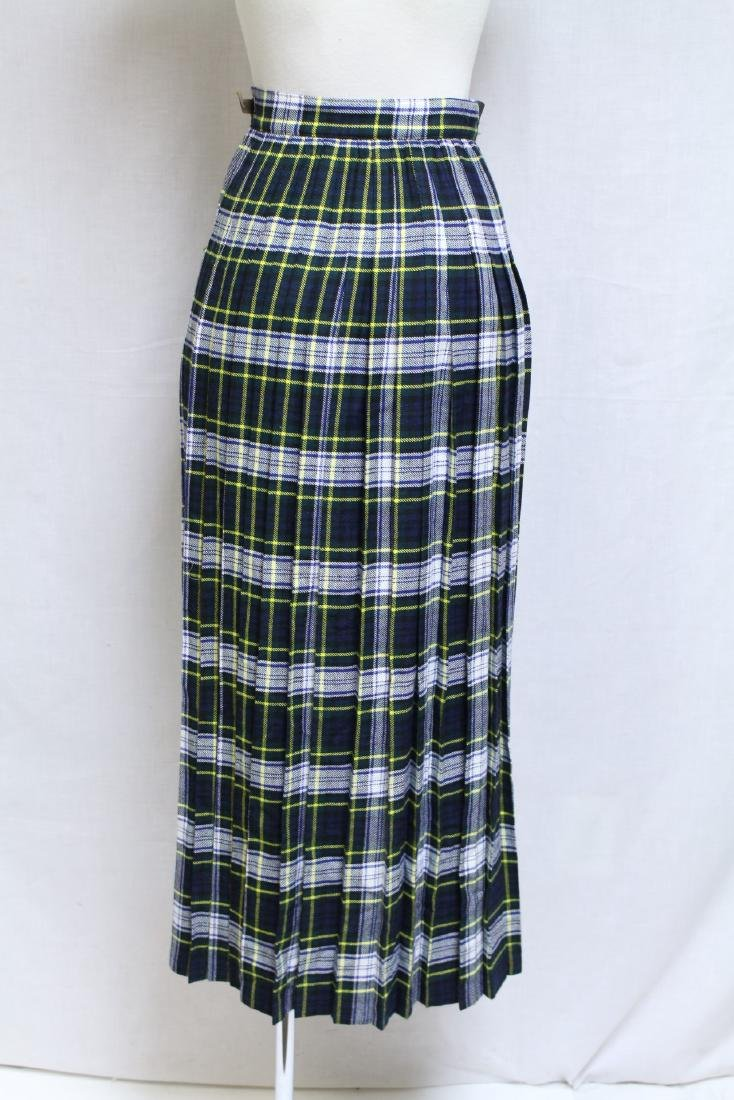 Vintage 1970s Wool Plaid Wrap Skirt - 3
