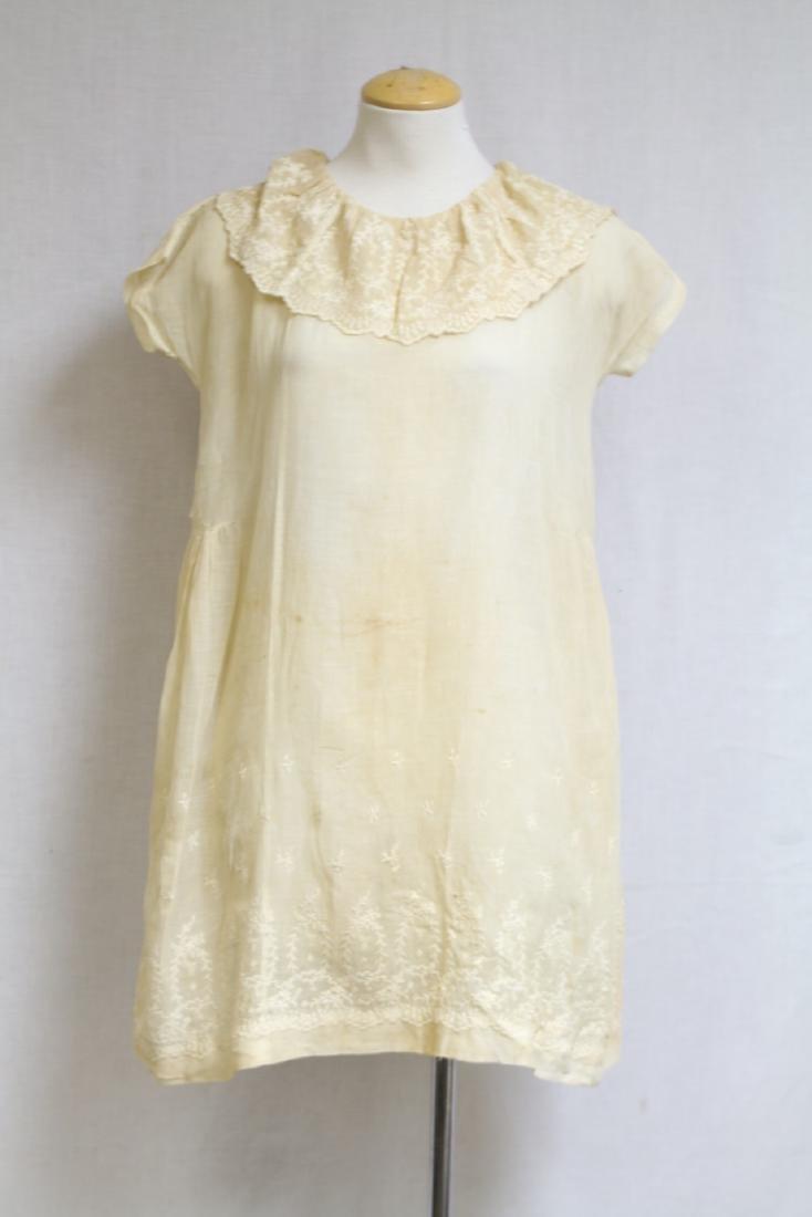 Vintage 1920s Girls Embroidered Dress