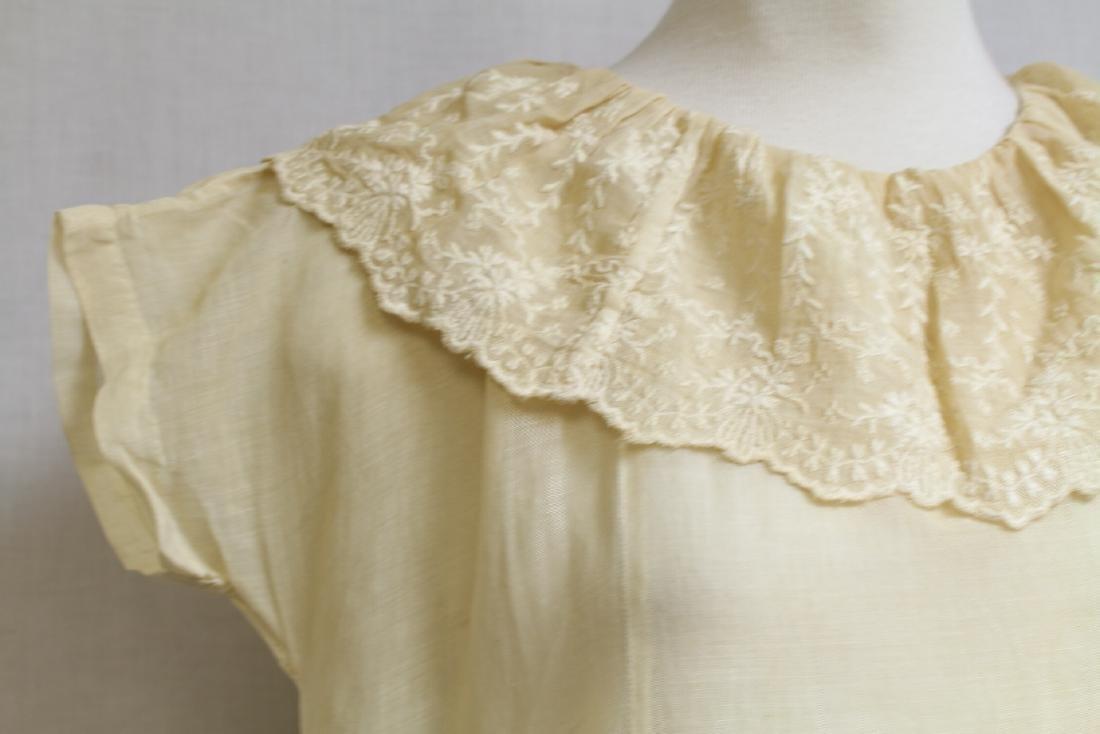 Vintage 1920s Girls Embroidered Dress - 3