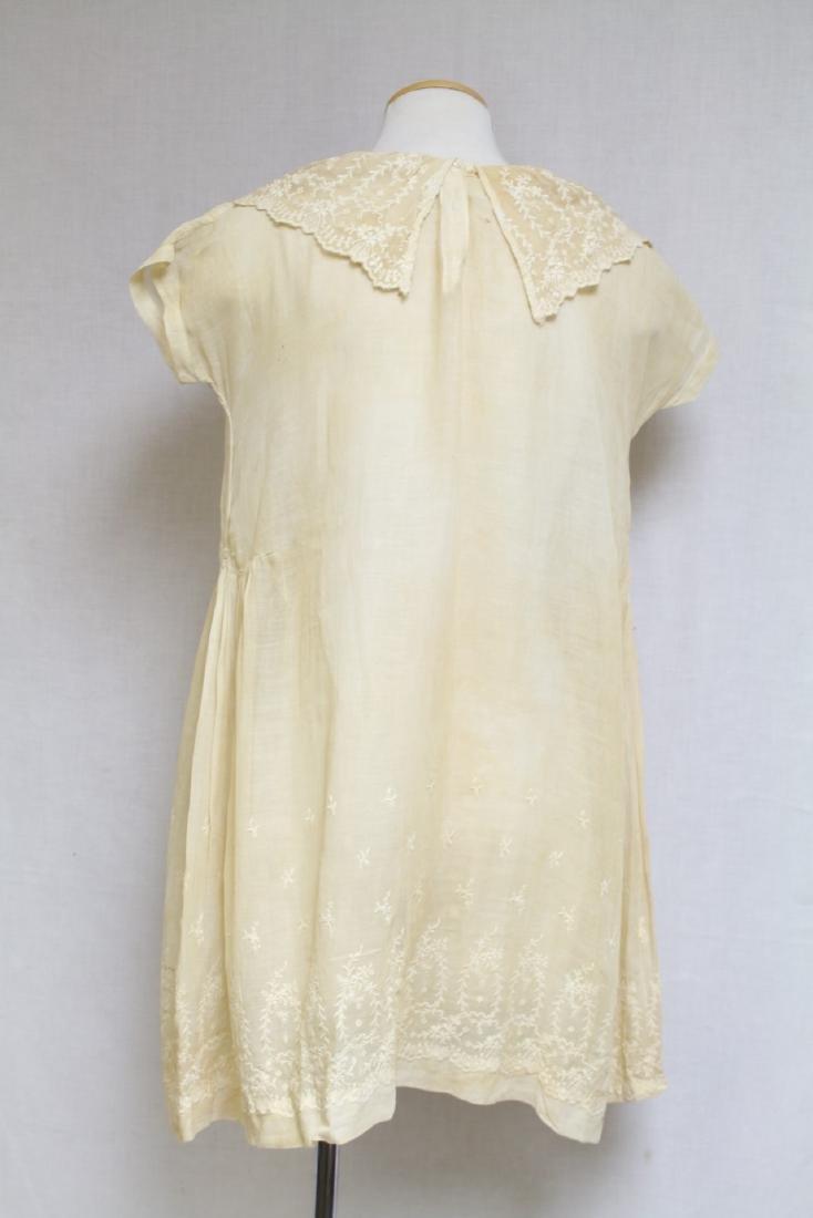 Vintage 1920s Girls Embroidered Dress - 4