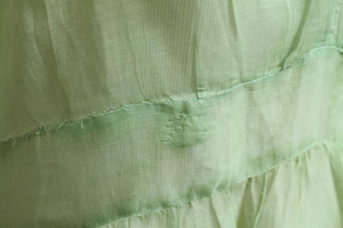 Vintage 1920s Green Organdy Dress - 3