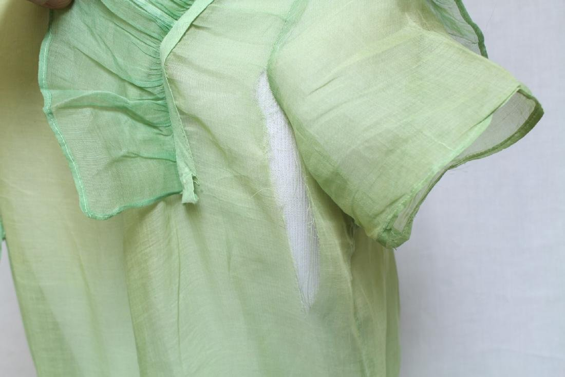 Vintage 1920s Green Organdy Dress - 7
