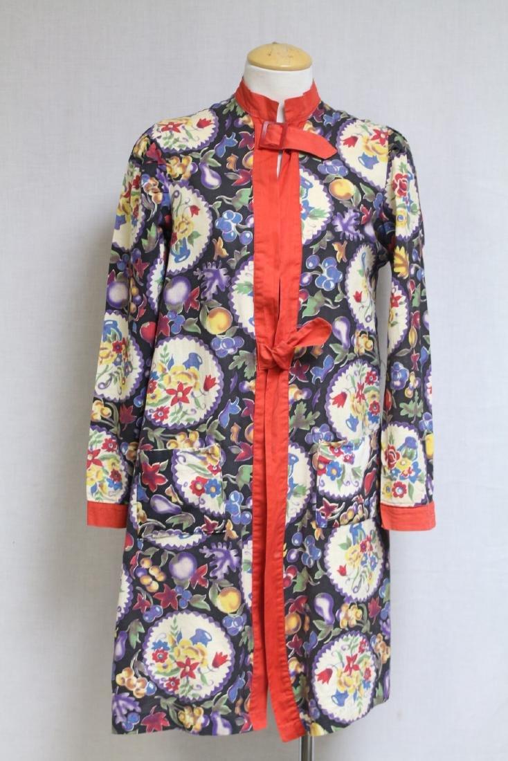 Vintage 1930s Printed Cotton Jacket