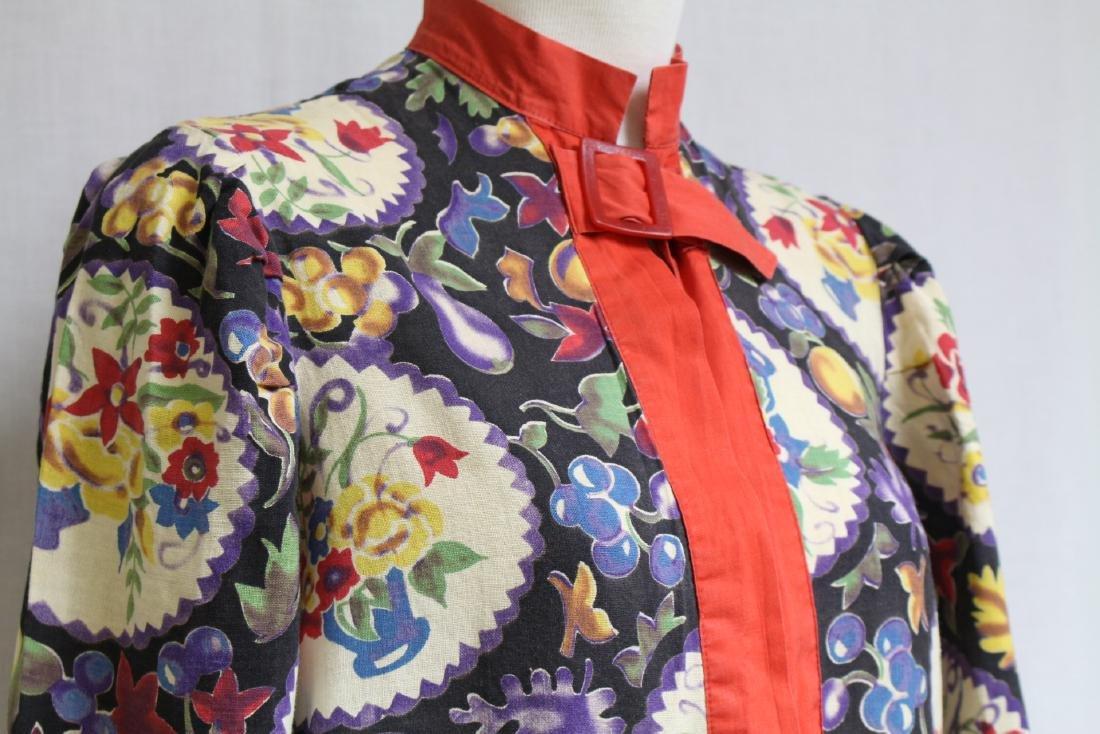 Vintage 1930s Printed Cotton Jacket - 2